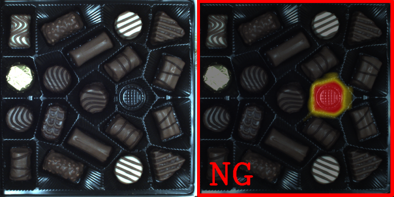 Deep learning application chocolate praline